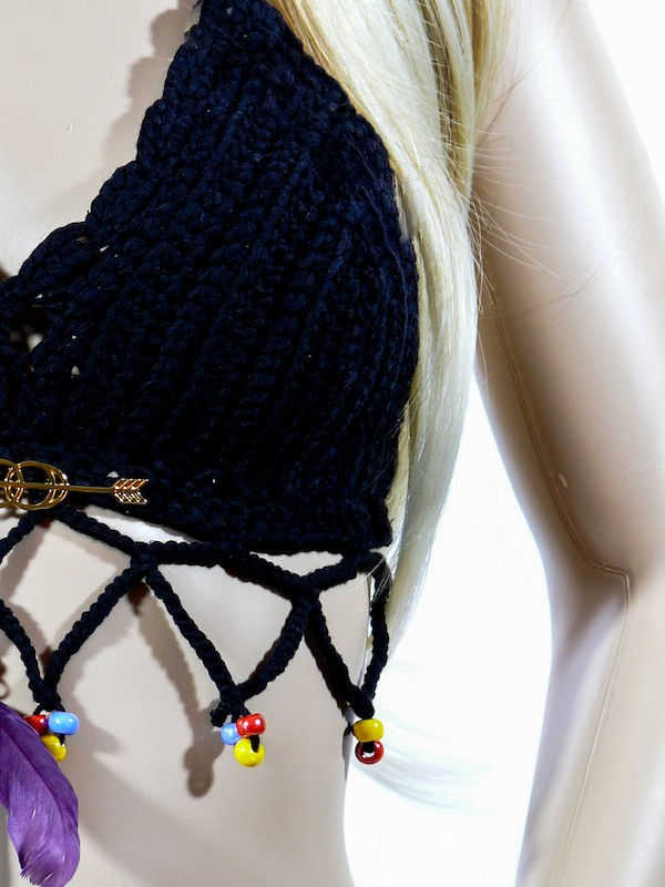 Crochet top - Boho Must Have with silver/gold mojo - from 89,-