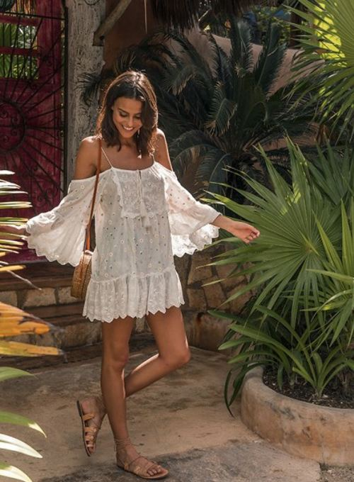 Miss June Boho Tunic - your Hippiechic Bare-Shoulder Must Have 89,-