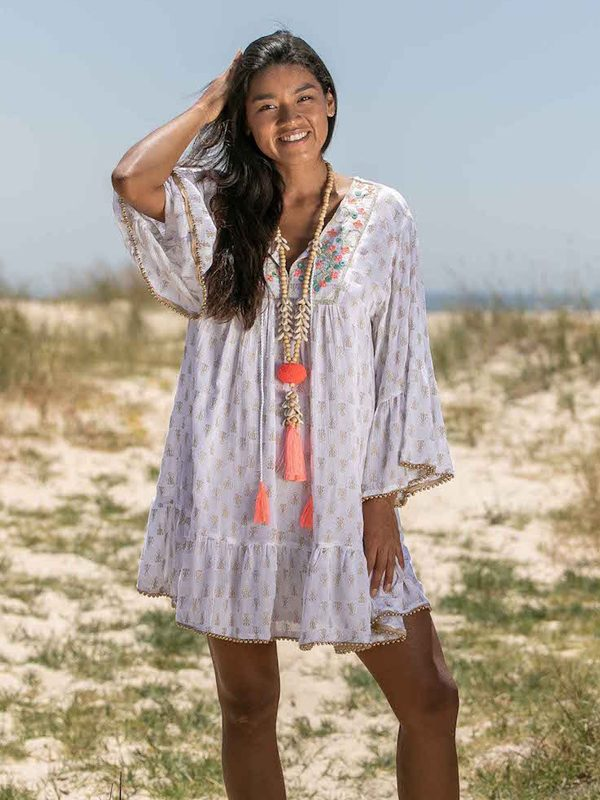 Tunic Dress Carola - the easy breeze summerdream made of crepe 62,-