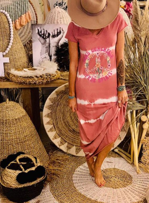 Batik Dress Coachella - Your Hippie It-Piece for every day only 67,-