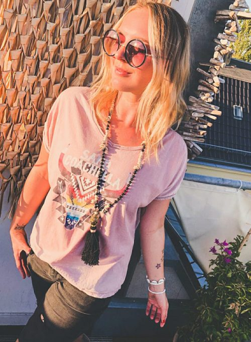 The Coachella T-Shirt - Oversize Cut in a Boho Festival Style only 39,-