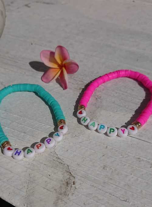 Armband Happy - dein Accessoire für happy Hippie Feeling pur für 12,-
