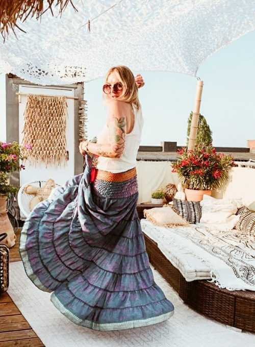 Ibiza silk skirt - the must-have for an endless summer for 64,- Euro